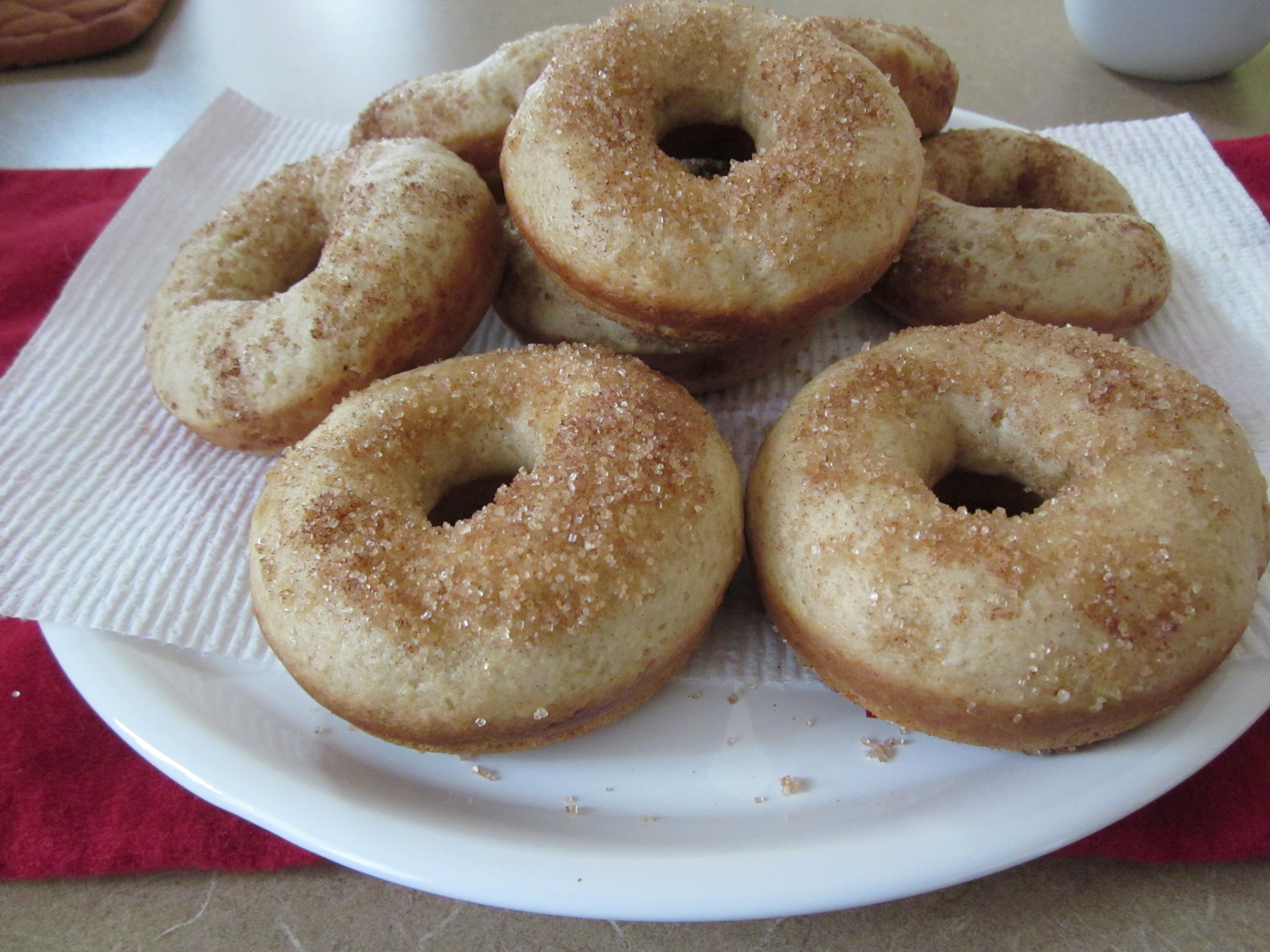 Cake doughnuts recipe demonstration
