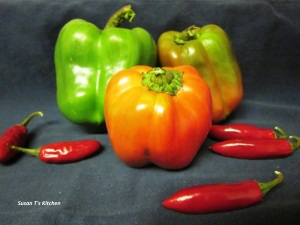 Green, Red and Hot Peppers From Susan T's Garden