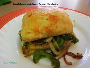 Fried Onion And Green Pepper Sandwich from Susan T's Kitchen