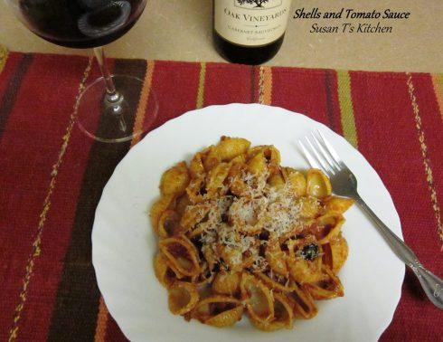 Shells and Tomato Sauce