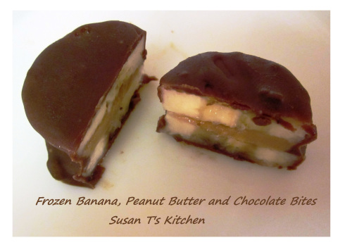 Banana Peanut Butter Chocolate Bites